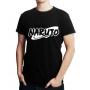 Camiseta Naruto Logo Masculina Anime Camisa Preta