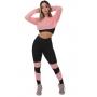 Conjunto Feminino Fitness Calça Legging e Top Dry Rosê