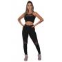 Conjunto Feminino Fitness Feminino Calça Legging e Top Transparência