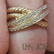 Anel Aparador luxo 089 - A unidade feminina - Pedras sintéticas (zirconias)