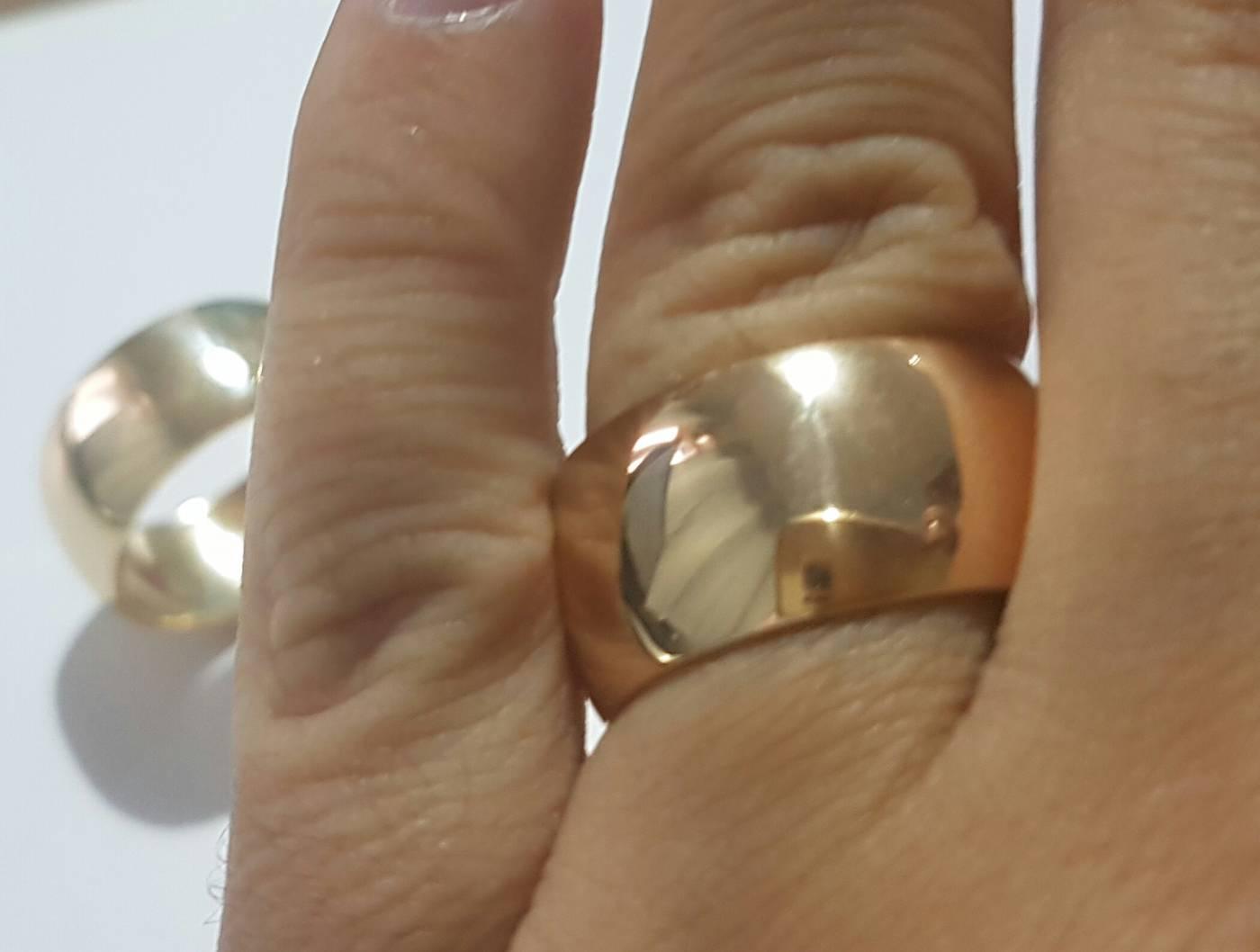 Modelo 107 (11mm) - Em ouro amarelo envelhecido
