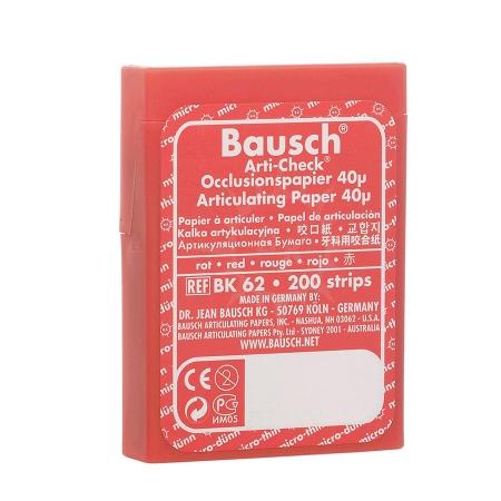 BK62 Papel Carbono Vermelho Dupla Face 40 µ Ajuste oclusal