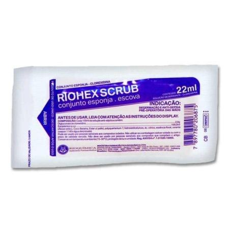 Escova para Unhas com Clorexidina 2% - Riohex 2% 22ml - Rioquímica