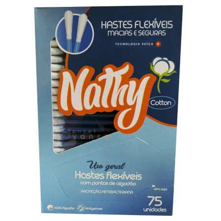 Hastes Flexiveis/Cotonete com 75 unidades - Nathy