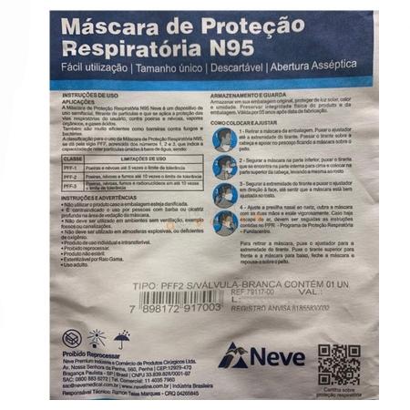 Mascara de Protecao N95 PFF2.S - Neve