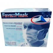 Máscara com Elástico Branco - Fava