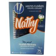 Nathy Hastes Flexiveis/Cotonete com 75 unidades