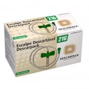 Scalp 21G para infusão endovenosa PVC com 100 unidades - Descarpack