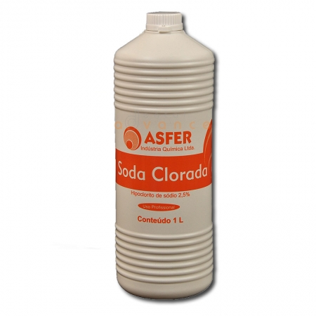 Soda Clorada 2,5% 1000ml - Asfer