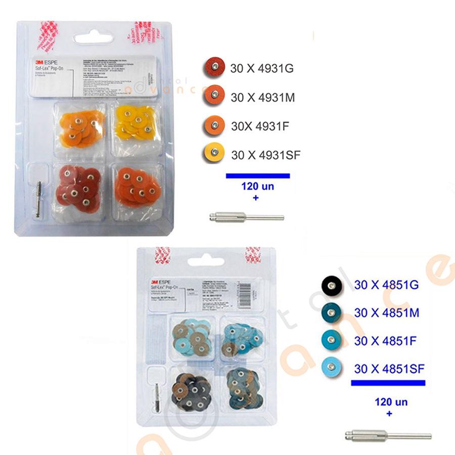 3M Disco de Lixa Sof-Lex Pop-on 1/2 com 30  - Dental Advance