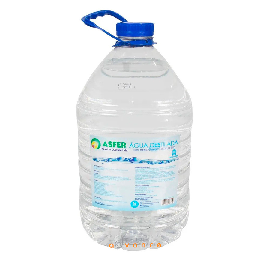 Água Destilada 5000ml - Asfer