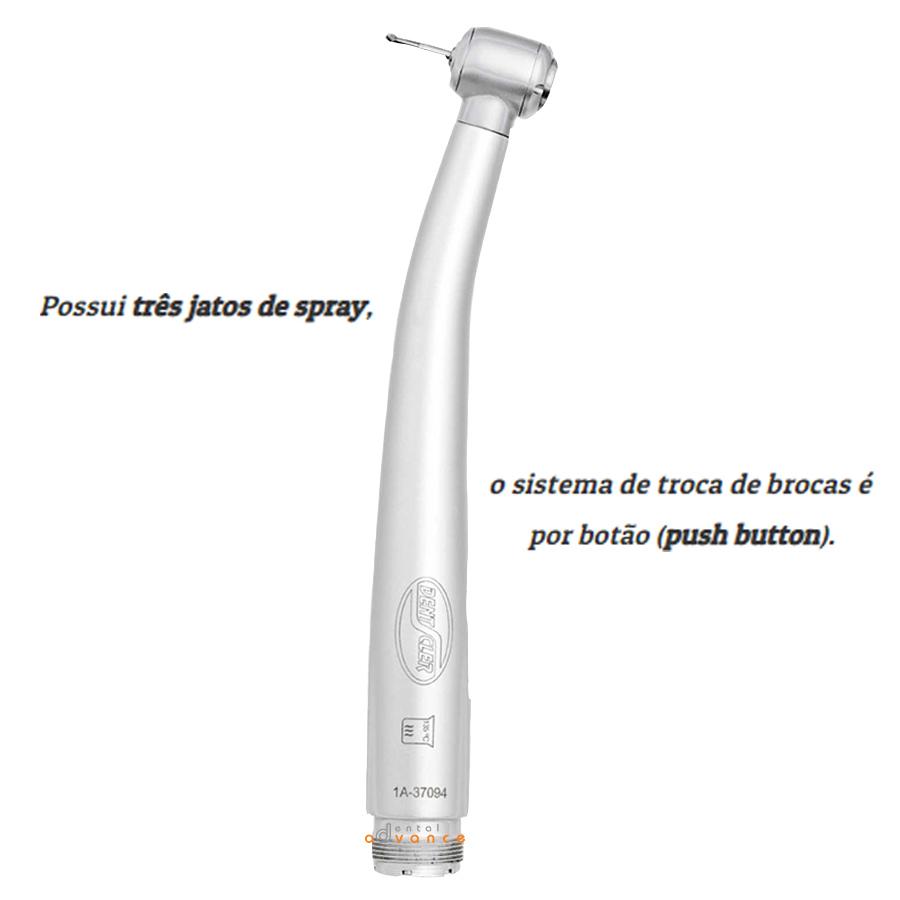 Alta rotação Necta Maxi Plus Push Boton com 3 spray - Dentscler