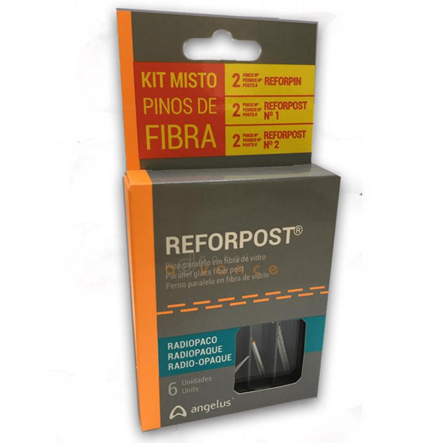 Angelus Fibra de Vidro Kit Misto Reforpost 1 e 2 + Reforpin  - Dental Advance
