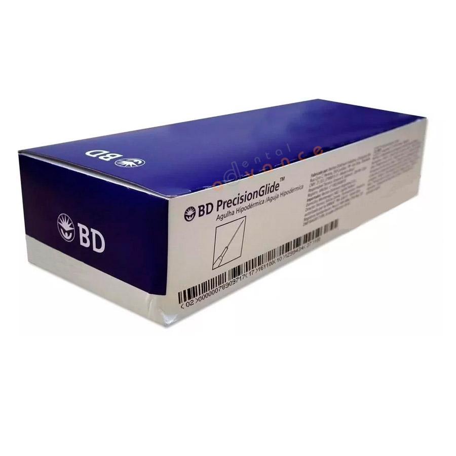 BD Agulha Descartável 0,80x25mm 21G 1 com 100 - 300054 verde cla  - Dental Advance