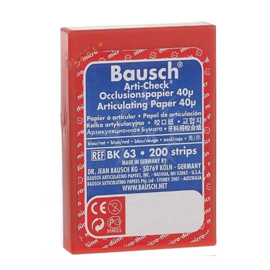 BK63 Papel Carbono Azul/Vermelho Dupla Face 40 µ Ajuste oclusal
