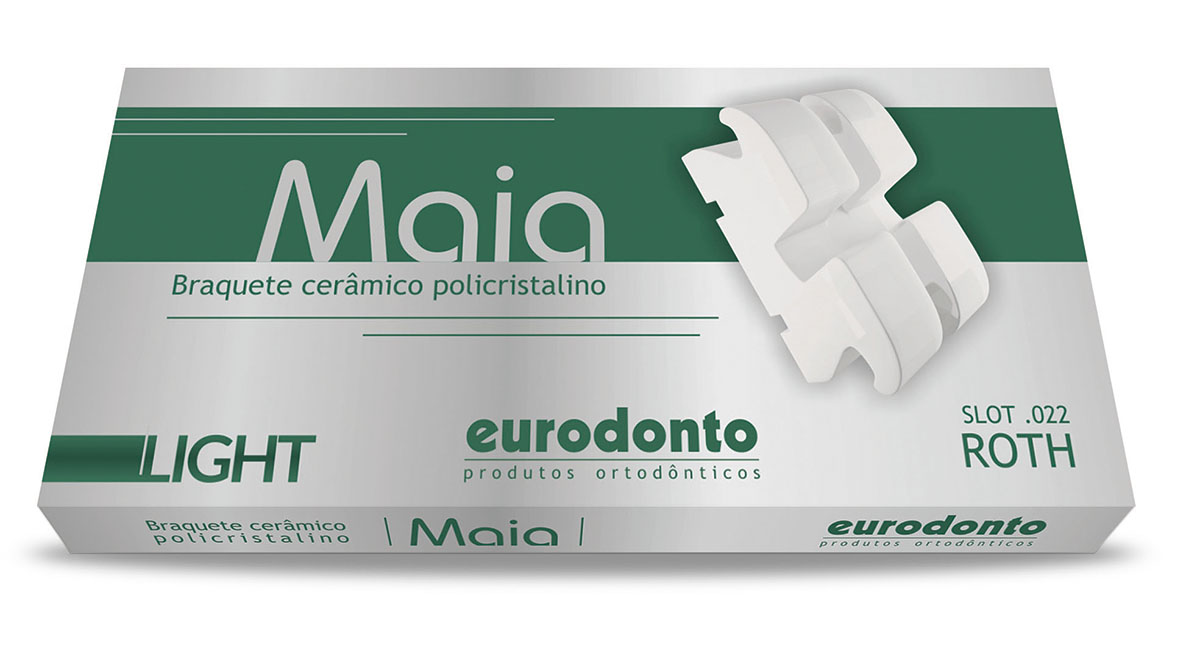 Eurodonto 1011-L-C-P Bráquete Maia Light Roth Kit  - Dental Advance