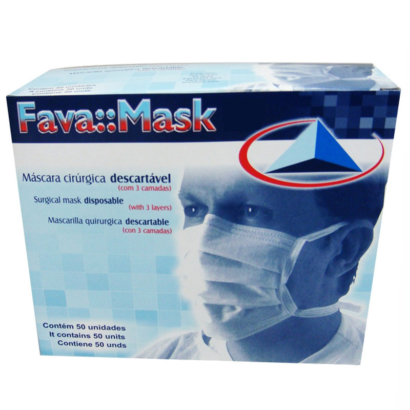 Fava Máscara com Elástico 50 Unidades Branco  - Dental Advance