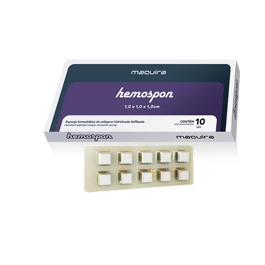 Maquira Hemospon Esponja Fibriol com 10  - Dental Advance