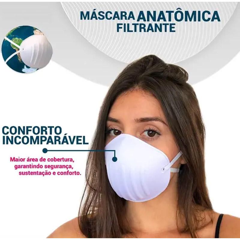 Máscara Anatomica Branca - Bojo Tek