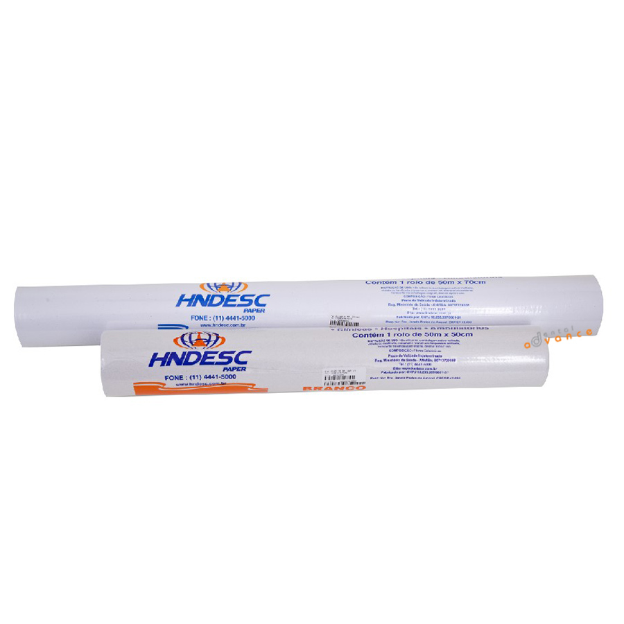 Papel Lençol 50cm X 50 mts (rolo) - Hndesc