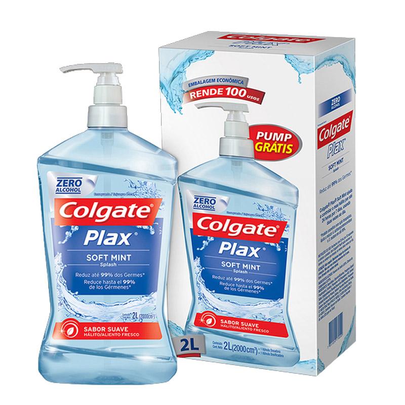 Plax Enxaguatório Bucal 2 litros refil - Colgate
