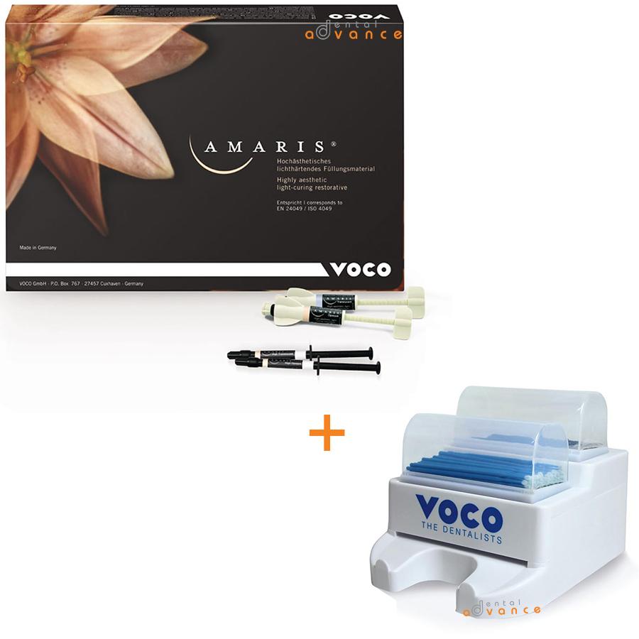Resina Amaris Kit Set + Dispensador de Pinceis Aplicadores - Voco