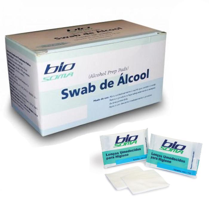 Swabs Gaze Embebida com Álcool - Biosoma