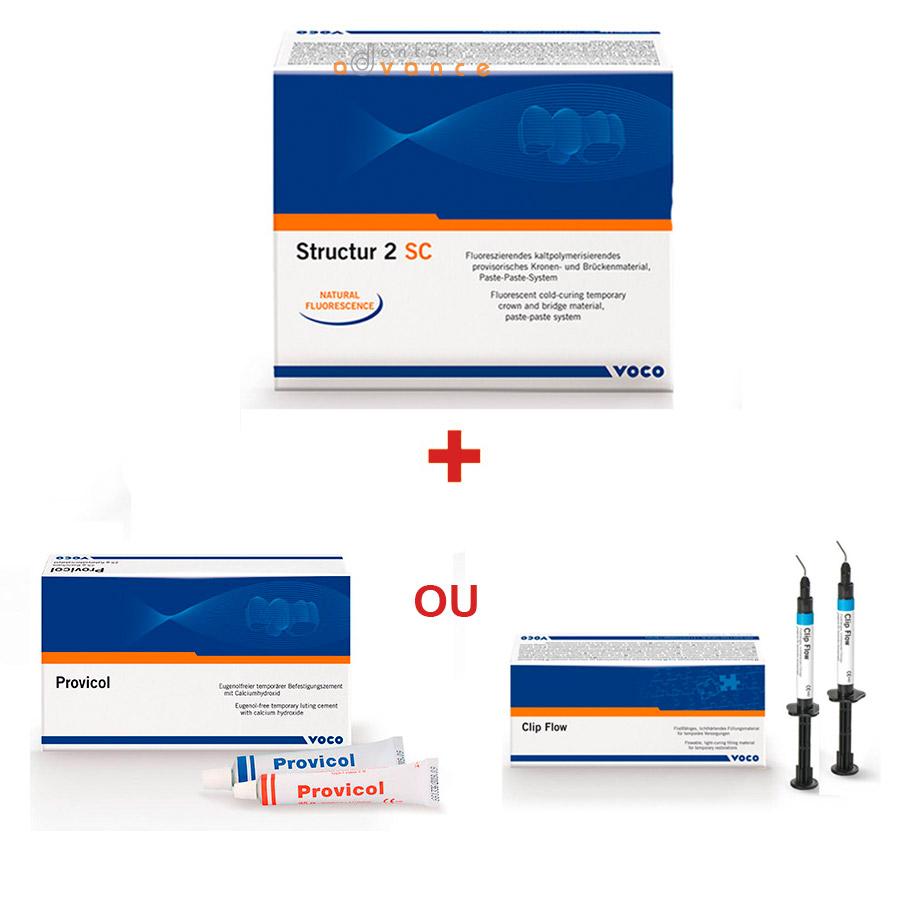 Voco Structur 2 SC cartucho + Provicol ou Clip F Flow  - Dental Advance