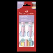 Canetinhas Hidrocores com 6 Cores Tons Pastel Faber-Castell Vai e Vem