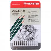 Estojo de Lápis Graduados Stabilo Othello 282 com 12 Graduações
