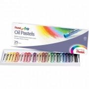 Giz Pastel Oleoso Pentel com 25 Cores PHN-25