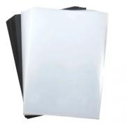 Kit - Capa Transparente e Contracapa Preta para Encadernação A4