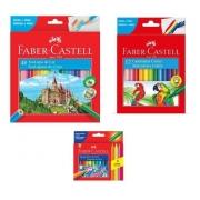 Kit - Lápis de Cor 48 Cores + Canetinhas Hidrográficas 12 Cores + Giz de Cera 12 Cores Faber-Castell