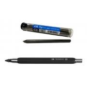Kit - Lapiseira Tecnocis Preta 5.6mm + Tubo Com 3 Grafites 5.6mm