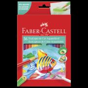 Lápis de Cor Aquarela com 36 Cores Faber-Castell