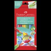 Lápis de Cor Faber-Castell 12 Cores Aquarela