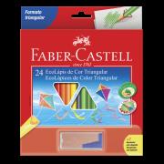 Lápis de Cor Faber-Castell 24 Cores + Apontador