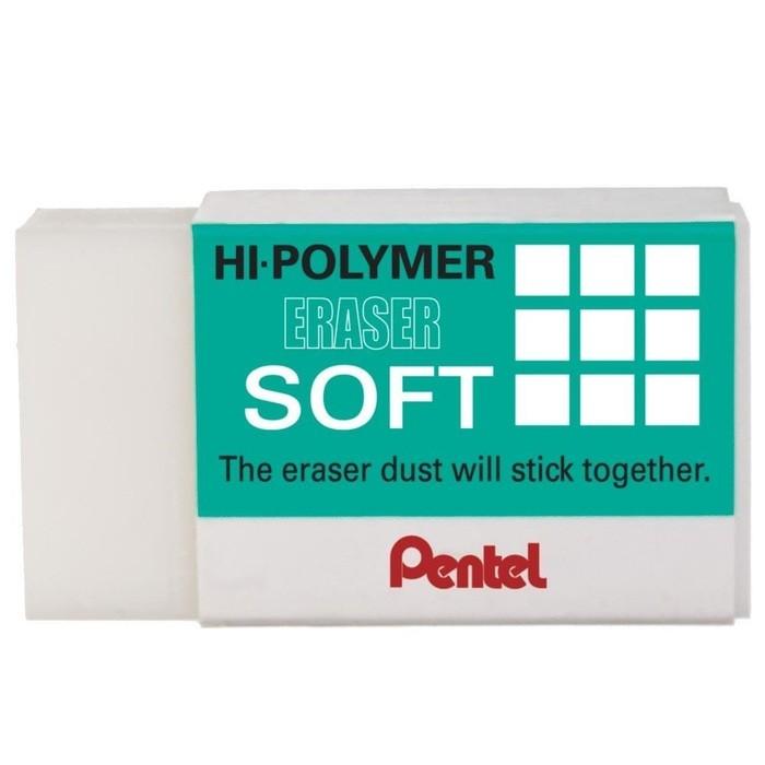 Borracha Técnica Pentel Hi Polymer Soft Branca