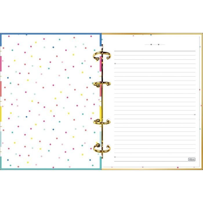 Caderno Colegial Argolado Cartonado Tilibra Lovely Be Nice com 160 Folhas