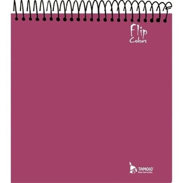 Caderno Para Canhotos com 10 Matérias Tamoio Flipcolors Vermelho