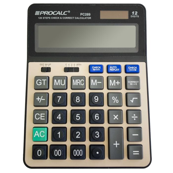 Calculadora De Mesa com 12 Dígitos Procalc PC289 - Solar