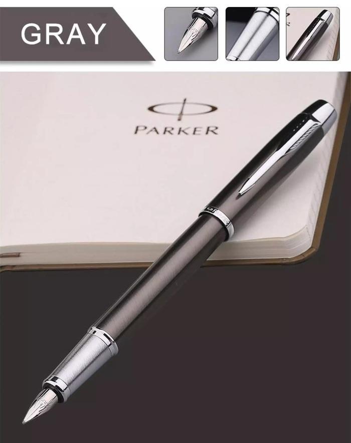 Caneta Tinteiro Parker IM Cinza Escuro CT 1931657