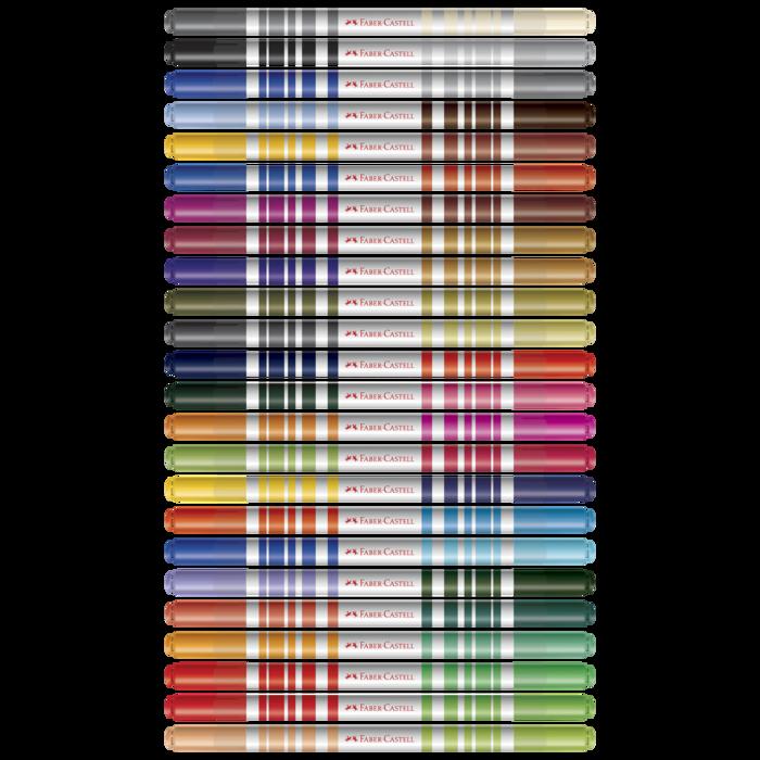 Canetas Hidrográficas Bicolor com 48 Cores Faber-Castell