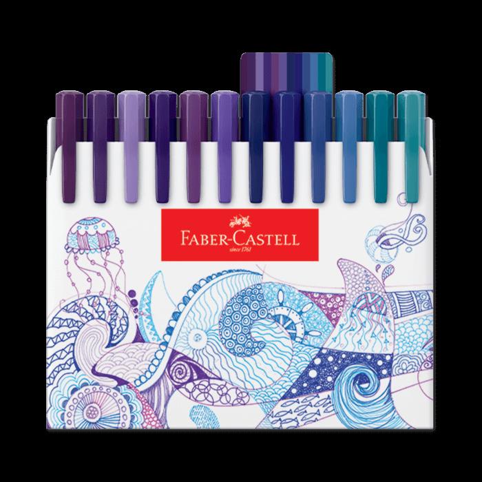 Canetas Hidrográficas Faber-Castell Fine Pen com 48 Cores - Exclusivo