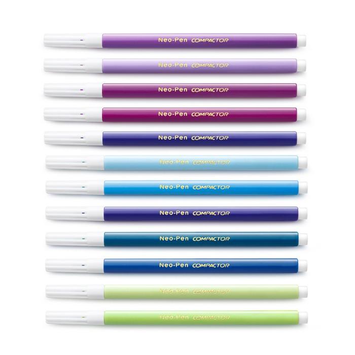 Canetinhas Hidrográficas com 36 Cores Compactor Neo-Pen