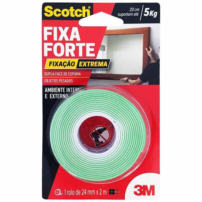 Fita Dupla Face 3M Scotch Fixa Forte 24mmx2m