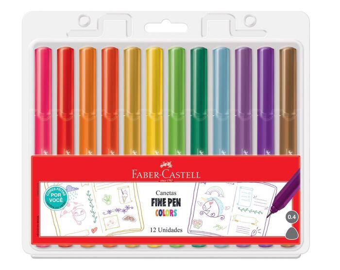 Kit - 03 Estojos de canetal Faber-castell Fine Pen Exclusivos
