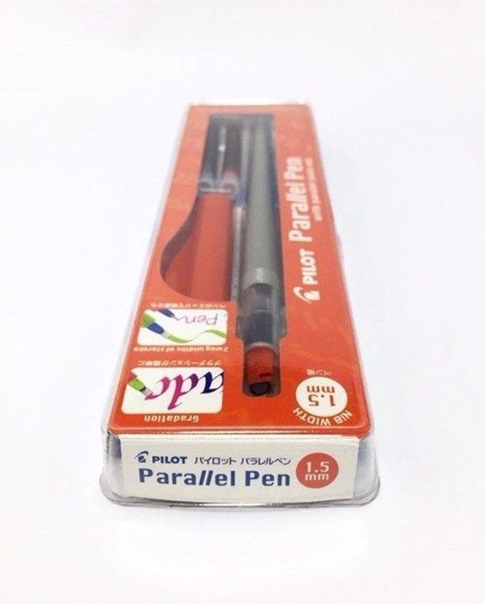 Kit - Caneta Caligráfica Pilot Parallel Pen 1.5mm + 12 Cartuchos De Recarga