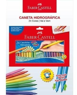Kit - Lápis de Cor 48 Cores Aquarela + Canetinhas Hidrográficas Vai E Vem 24 Cores Faber-Castell