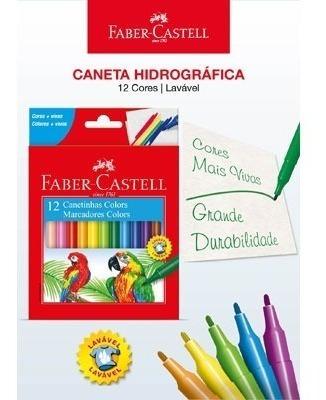 Kit - Lápis de Cor 48 Cores + Canetinhas Hidrográfcas 12 Cores + Caneta Ponta Pincel 10 Cores